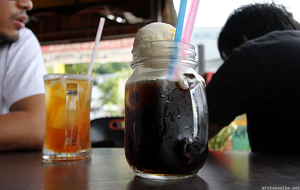 Langkawi restaurant soda pop iced tea