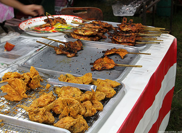 Langkawi street food fried chicken bbq