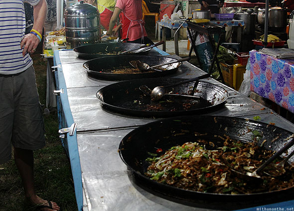 Langkawi street food fried rice noodles