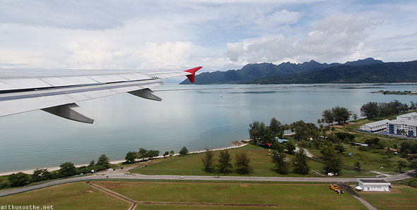 Leaving Langkawi Malaysia by flight