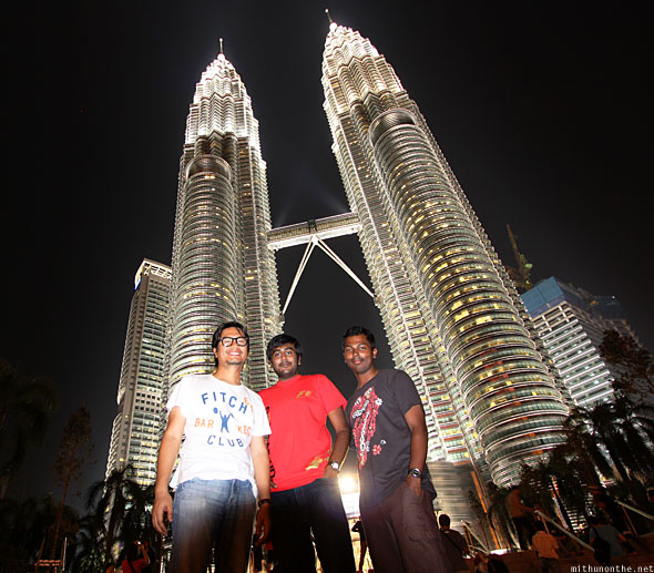 Loiyumba Ramesh Mithun in front of Petronas Towers full