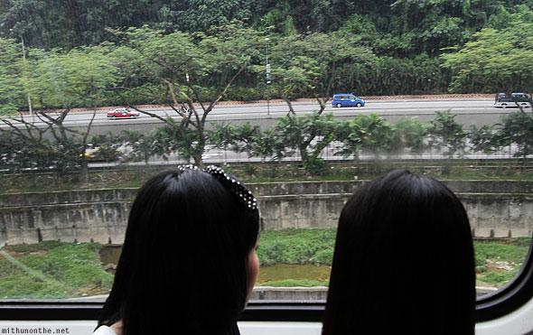 Monorail view to KL Sentral