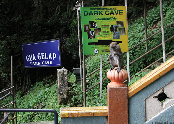 Batu Caves Gua Gelap dark cave entrance