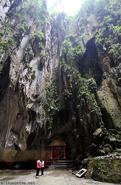 Batu Caves inside limestone rock