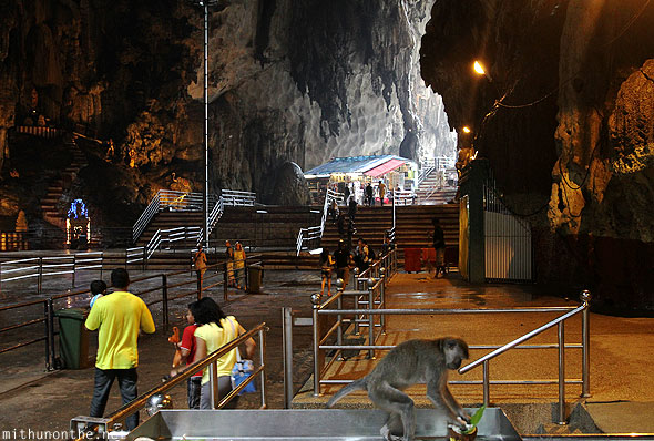 Batu Caves inside limestone rocks