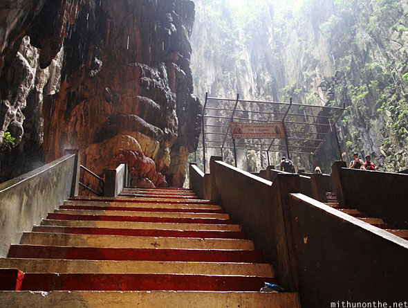 Batu Caves inside steps to other temple