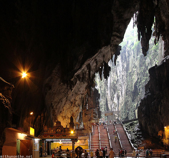 Batu Caves inside steps to second temple