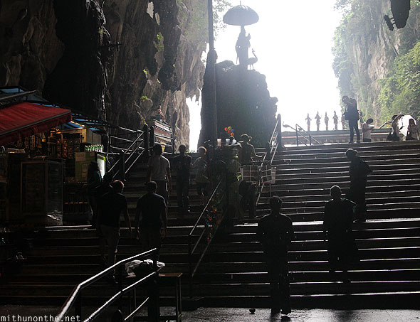 Batu Caves steps way out