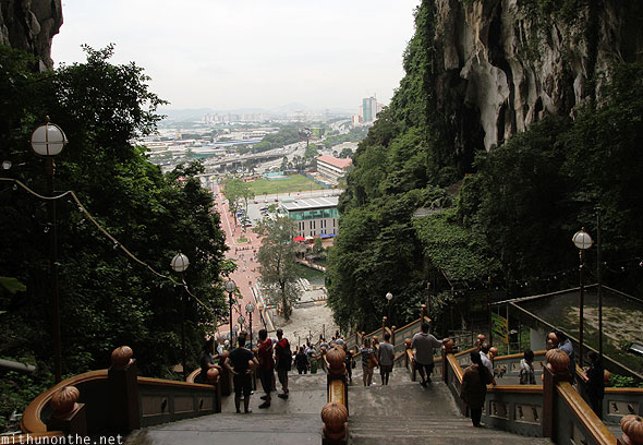 Batu Caves view from top KL city
