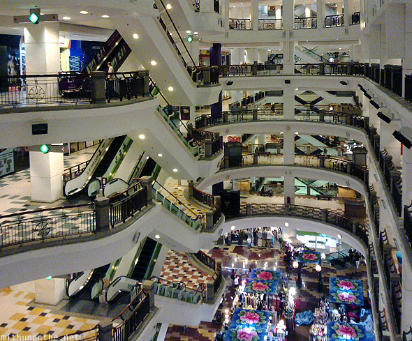 Berjaya Times Square shopping mall floors