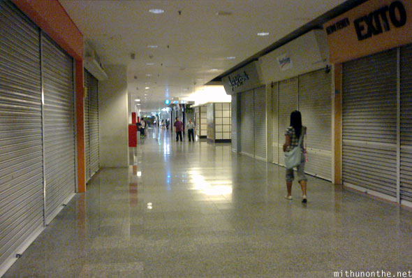 Berjaya Times Square shops morning closed