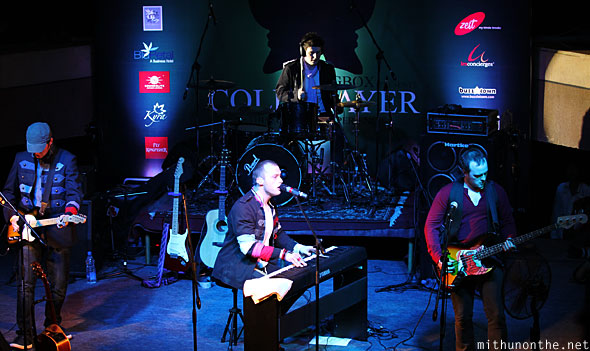 Coldplayer band performing Bangalore