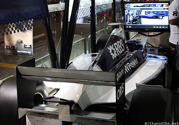 Menara KL F1 simulator zone dummy BMW car