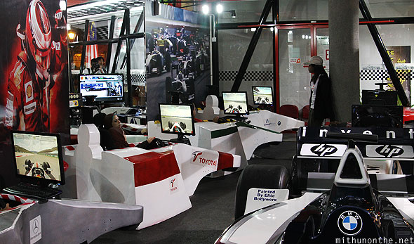 Menara KL Tower F1 Simulator zone dummy cars