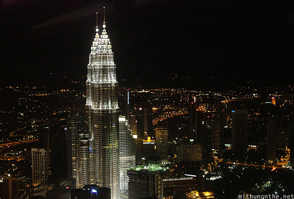 Menara KL tower observation deck view at night