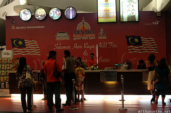 Menara KL tower ticket counter