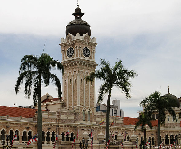 Merdeka Square Sultan Abdul Samad building clock tower