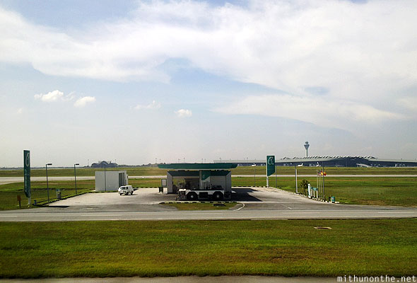 Petronas station KLIA take off runway