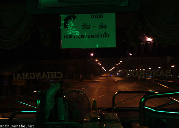Bangkok to Chiang Mai bus night journey