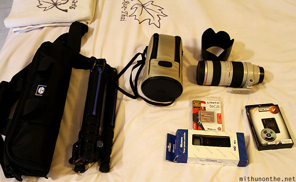 Camera equipment Sirui tripod Canon lens