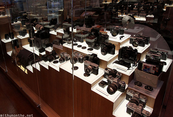 Canon camera store MBK collection display Bangkok