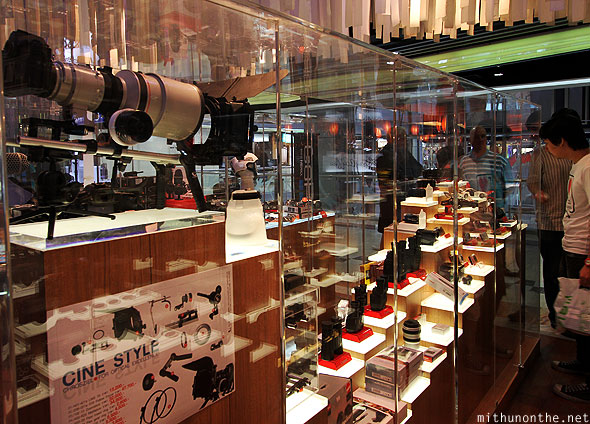 Official Canon store MBK collection display Bangkok