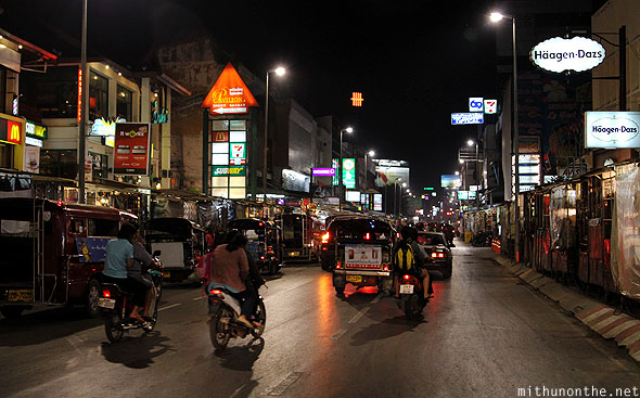 Changklan road restaurants Chiang Mai Thailand