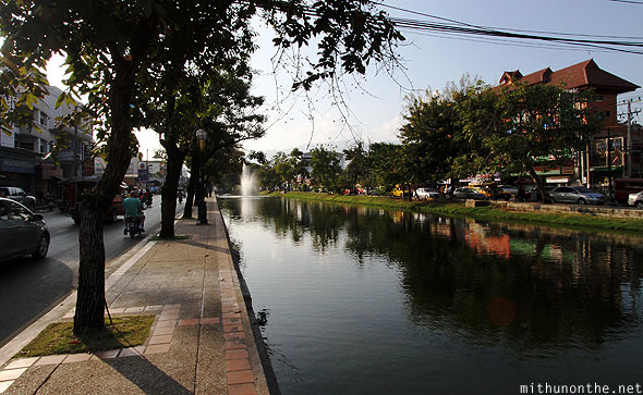 Chiang Mai canal Thapae gate road