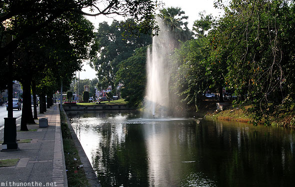 Chiang Mai city canal fountains