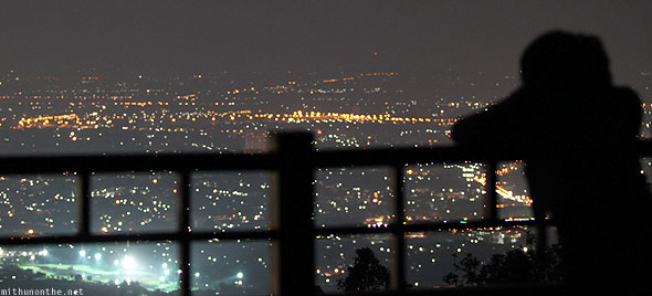 Chiang Mai Doi Suthep observation deck at night