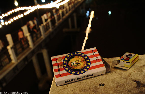 Chiang Mai Loy Krathong ping river bridge matchbox