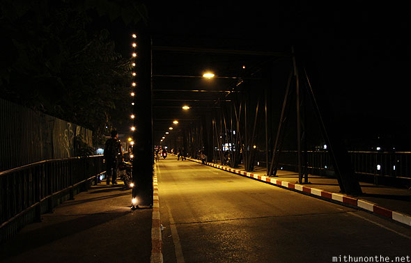Chiang Mai night bridge light decorations