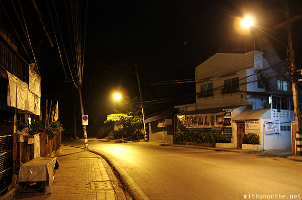 Chiang Mai night empty streets