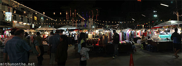 Chiang Mai night market panorama