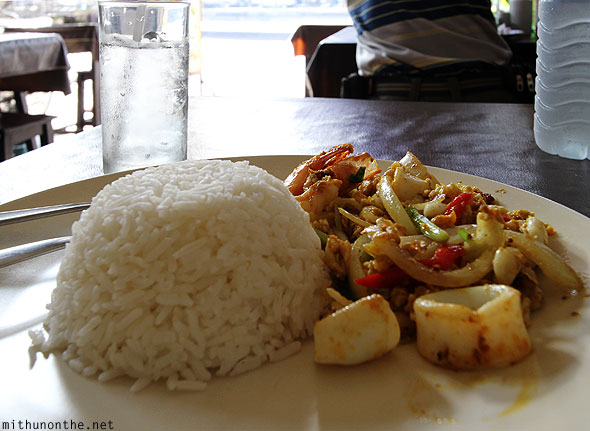 Chiang Mai rice seafood dry meal Thailand