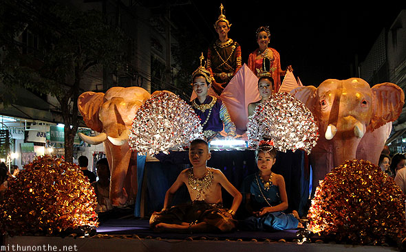 Chiang Mai Loy Krathong grand locals float Thailand