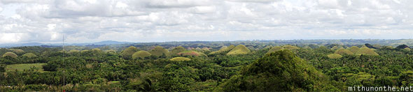 Chocolate Hills panorama Bohol Philippines