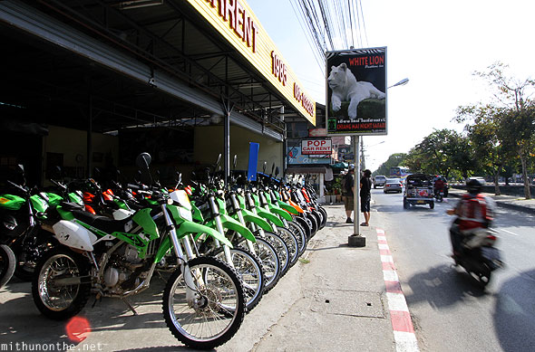 Dirt bike rentals Chiang Mai Thapae road
