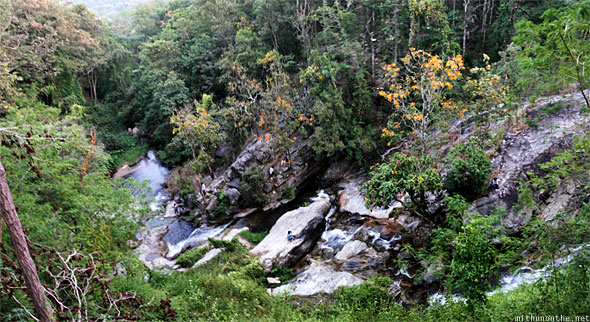 Doi Suthep hill mini waterfall panorama