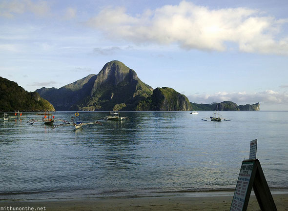 El Nido beach view Palawan Philippines