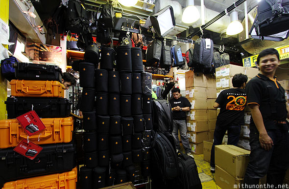 Fotofile camera equipment store MBK Bangkok Thailand