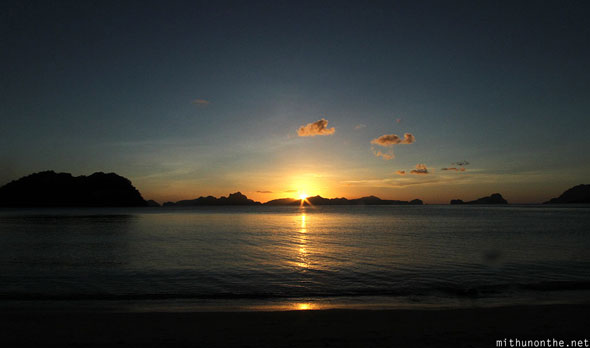 Las Cabanas beach sunset Philippines