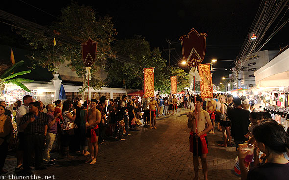 Loi Krathong Saturday parade Chiang Mai men