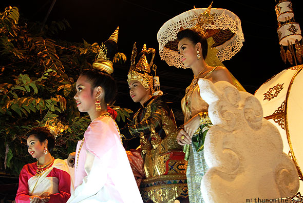 Loy Krathong grand parade Thai float Chiang Mai