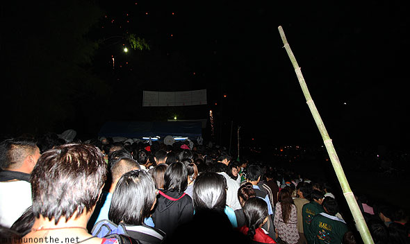 Maejo Sansai Loi Krathong crowd leaving