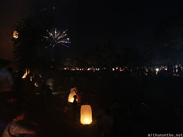 Maejo Sansai Loi Krathong fireworks celebrations