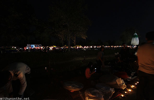 Maejo sansai Loi Krathong grounds parking