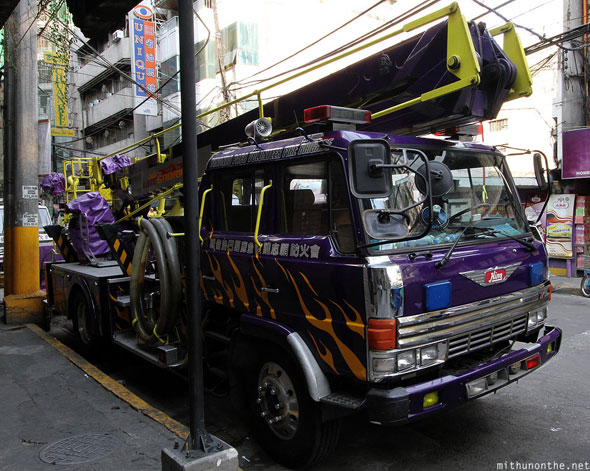 Manila Chinatown purple fire engine