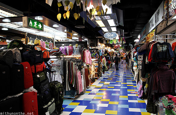 MBK mall bags clothes small stores section Bangkok