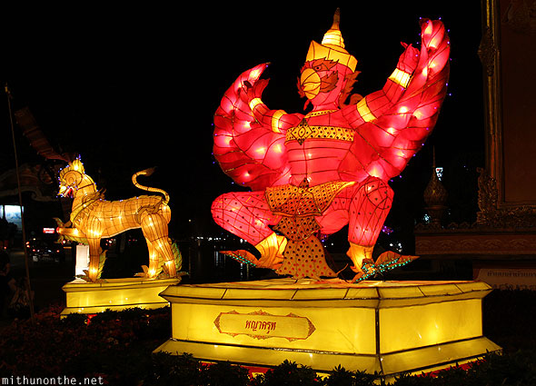 Mythology Thai creature lantern Chiang Mai Loi Krathong decorations